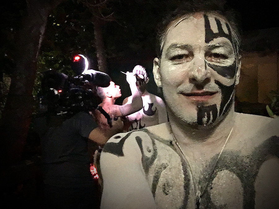 easter island body painting